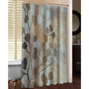 gold and brown shower curtain. Spa Blue and Gold Shower Curtain Rose  Wayfair
