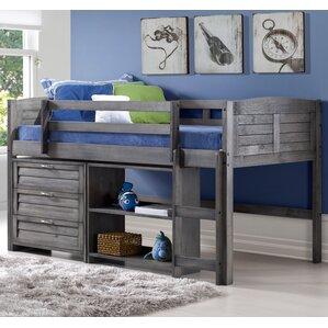 Evan Twin Low Loft Bed wit..