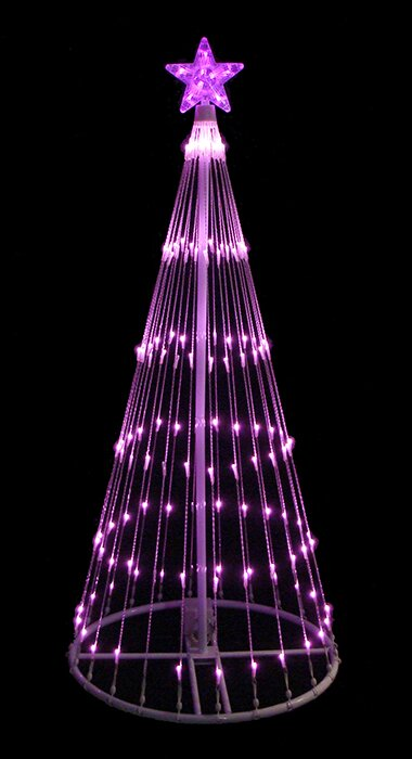 4 light show cone christmas tree lighted yard art decoration