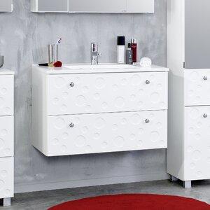 Held Möbel 80 cm Wandmontierter Waschtisch Nizza