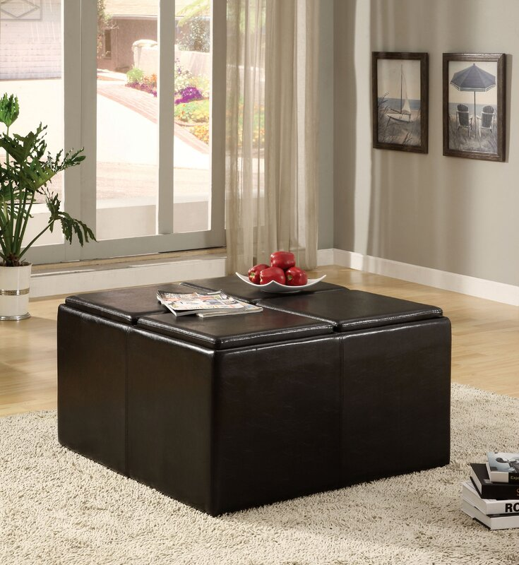 Darby Home Co Turner 5 Piece Coffee Table Ottoman Set & Reviews ...