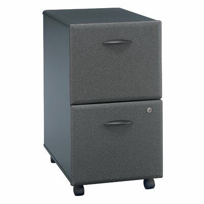 Bush Business Furniture Series A 2 Drawer Vertical File Cabinet Finish: Slate