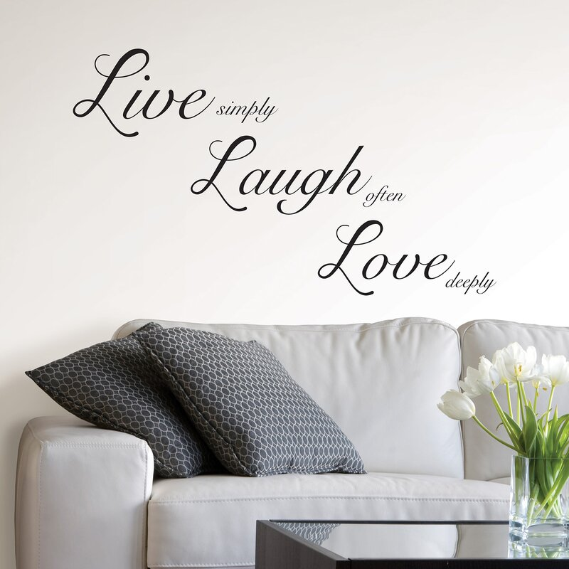 Attirant Live Laugh Love Wall Decal