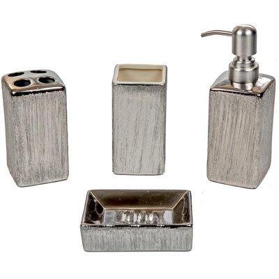 silvia ceramic 4 piece bathroom accessory set