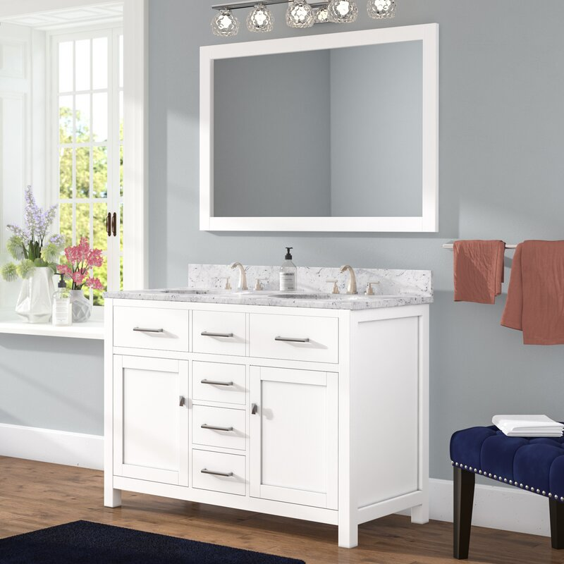 36 x 30 mirror for bathroom willa arlo interiors sverre 48 quot bathroom vanity set 24765