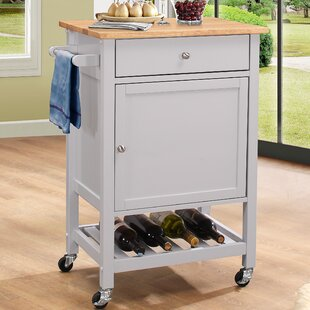 Chelmsford Kitchen Cart with Wood Top