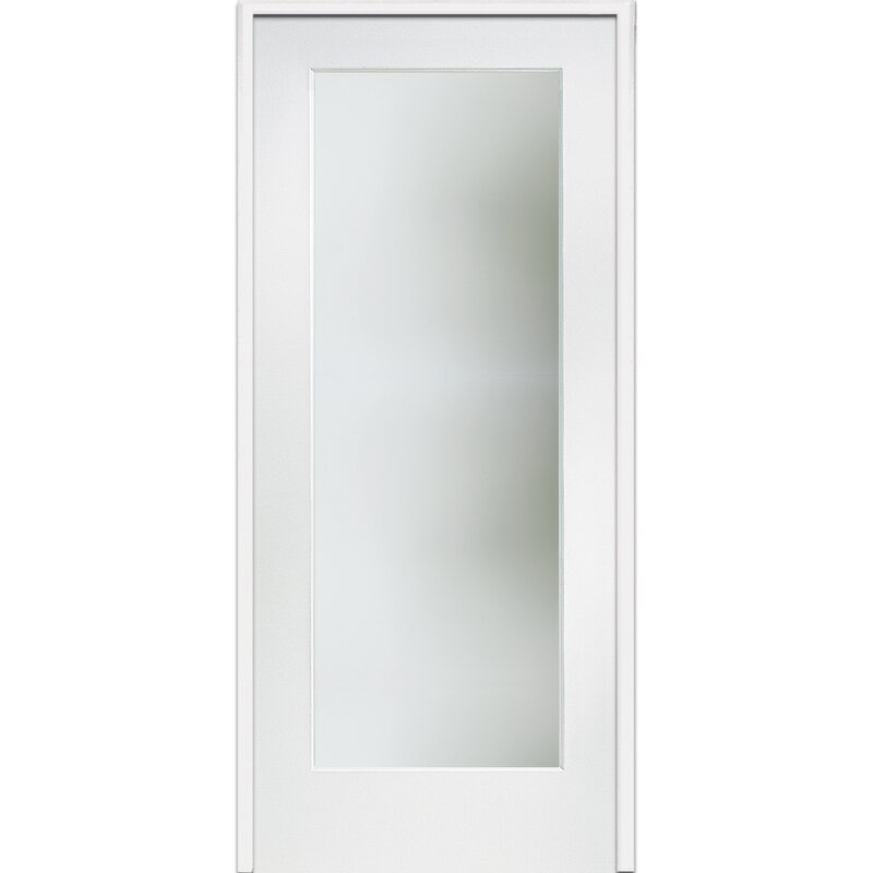 Verona Home Design Satin Etched Mdf Frosted Glass Prehung French