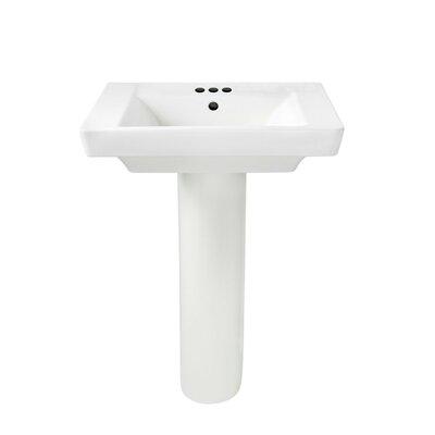 American Standard Boulevard Vitreous China 24 Pedestal Bathroom Sink with Overflow