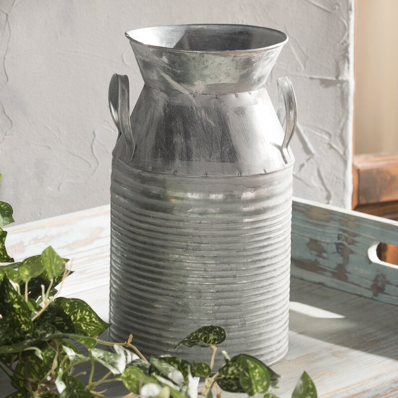 Midwestdesignimports Galvanized Tin Decorative Table Vase Reviews