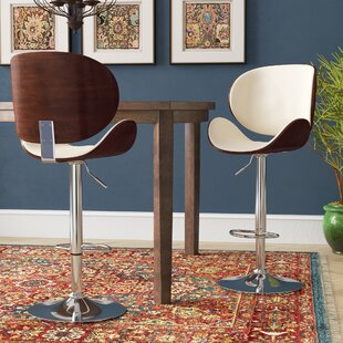 Menges Adjustable Height Swivel Bar Stool