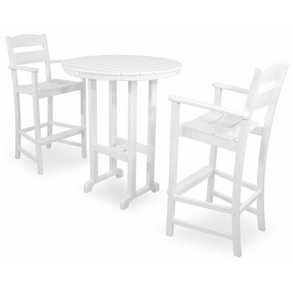 Ivy Terrace Classics 3 Piece Bar Height Dining Set