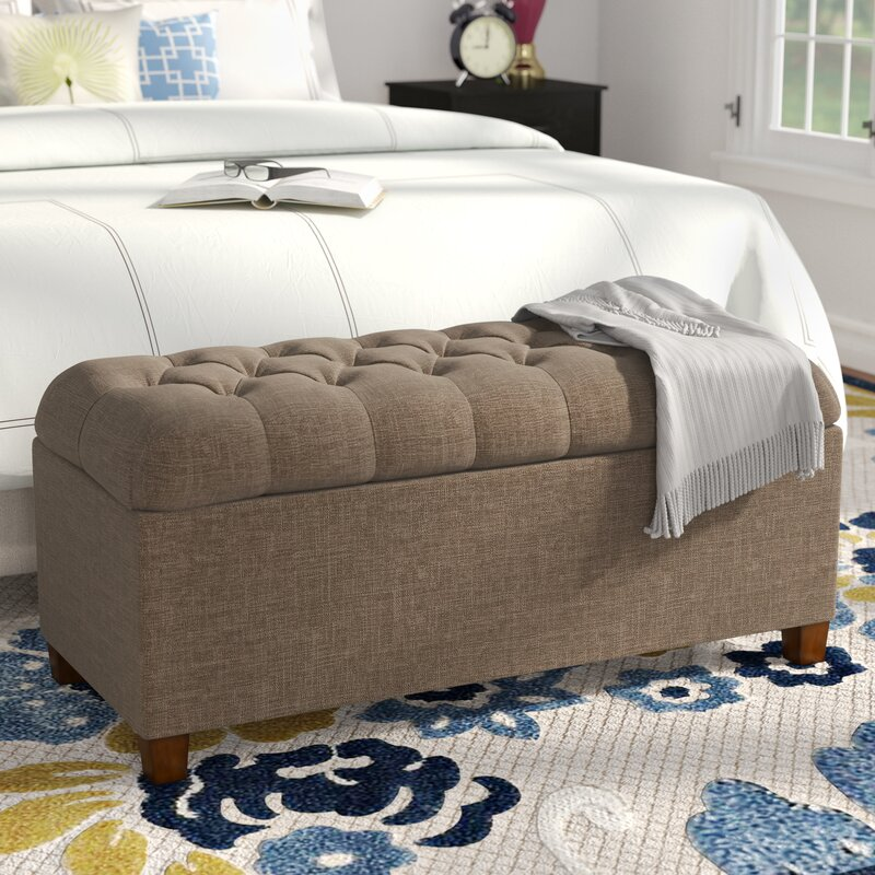 storage bench for living room. Halvorson Fabric Storage Bench Benches