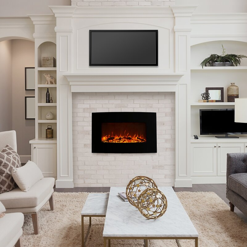 Northwest Curved Wall Mounted Electric Fireplace Reviews Wayfair