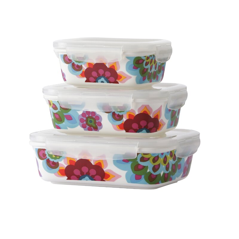 French Bull Gala Porcelain 3 Container Food Storage Set