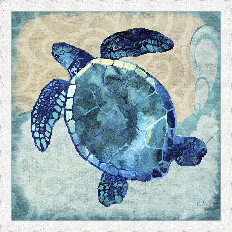 Ashton Wall Décor LLC 'Coastal Sea Turtle' Framed Graphic ...