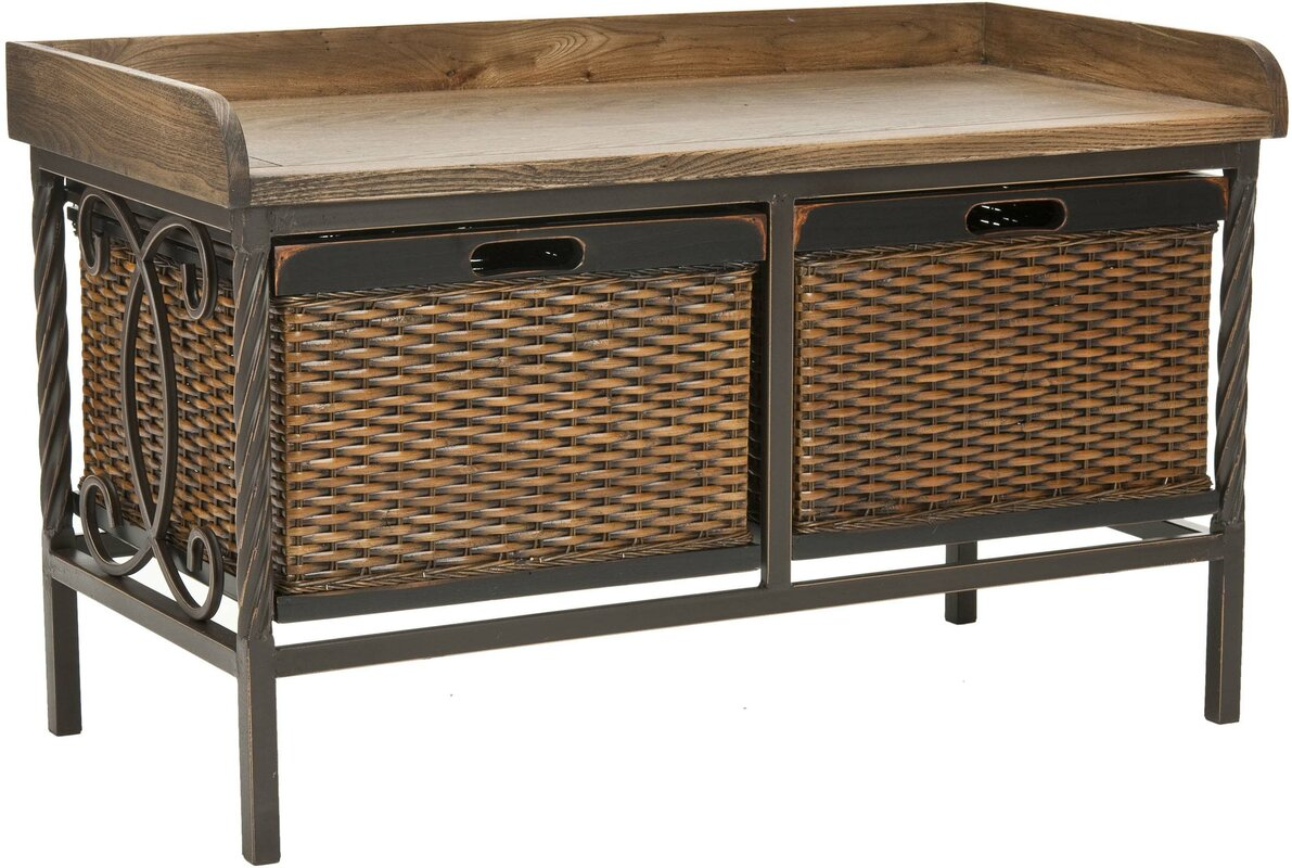 Zoraida Wood And Metal Storage Bench Reviews Joss Main