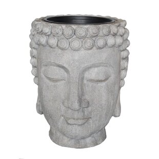 Decorative Buddha Head Flower Resin Statue Planter