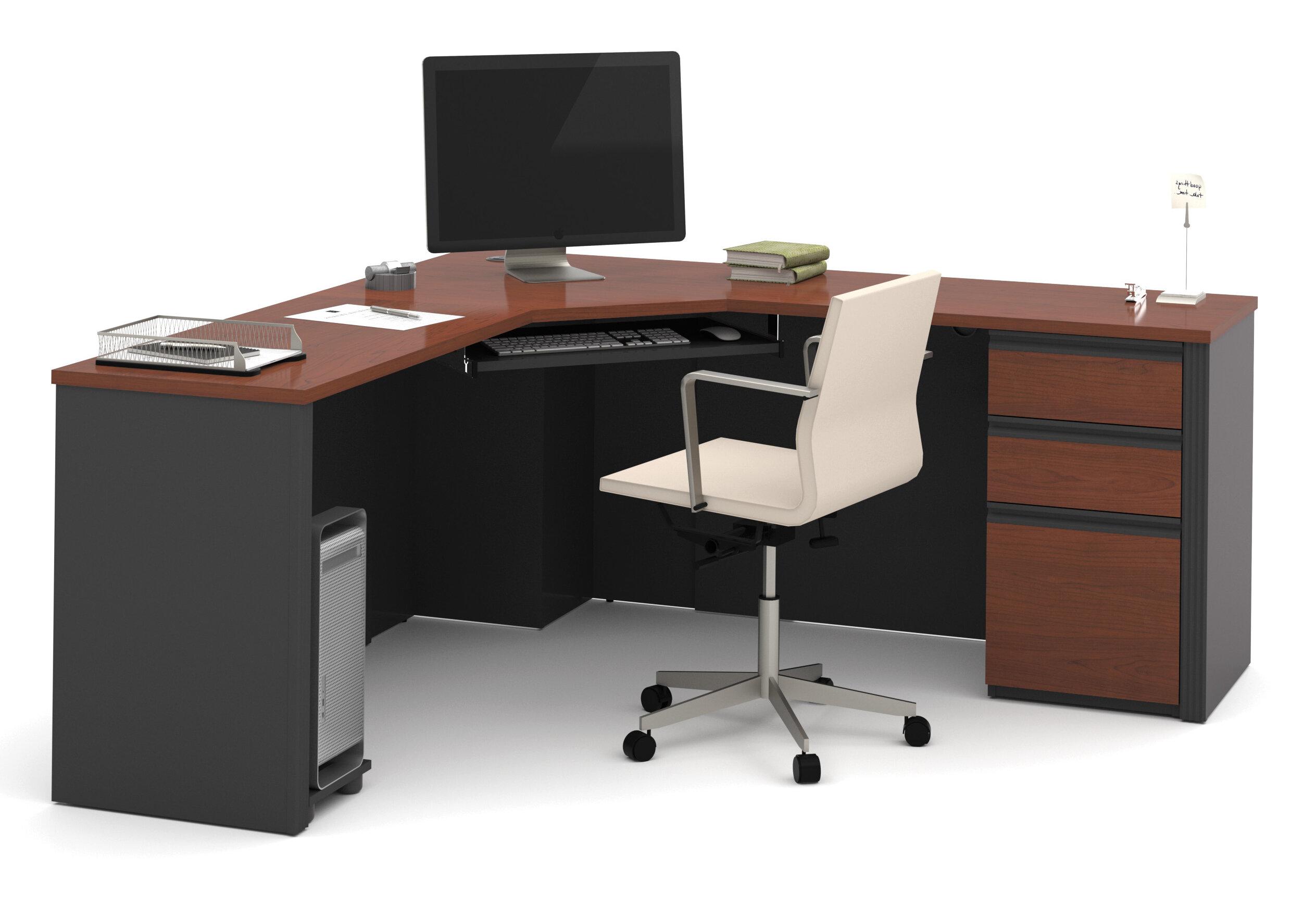 best sneakers 56b43 91655 Kenworthy Reversible Corner Executive Desk with Pedestal