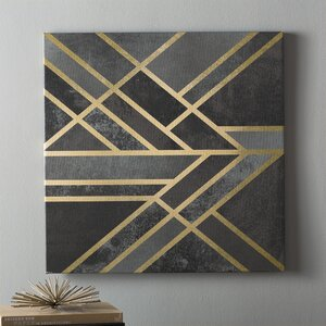 U0027Art Deco Geometry Iu0027 Graphic Art On Wrapped Canvas
