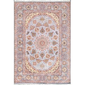 Isfahan Hand-Kntotted Grey Area Rug