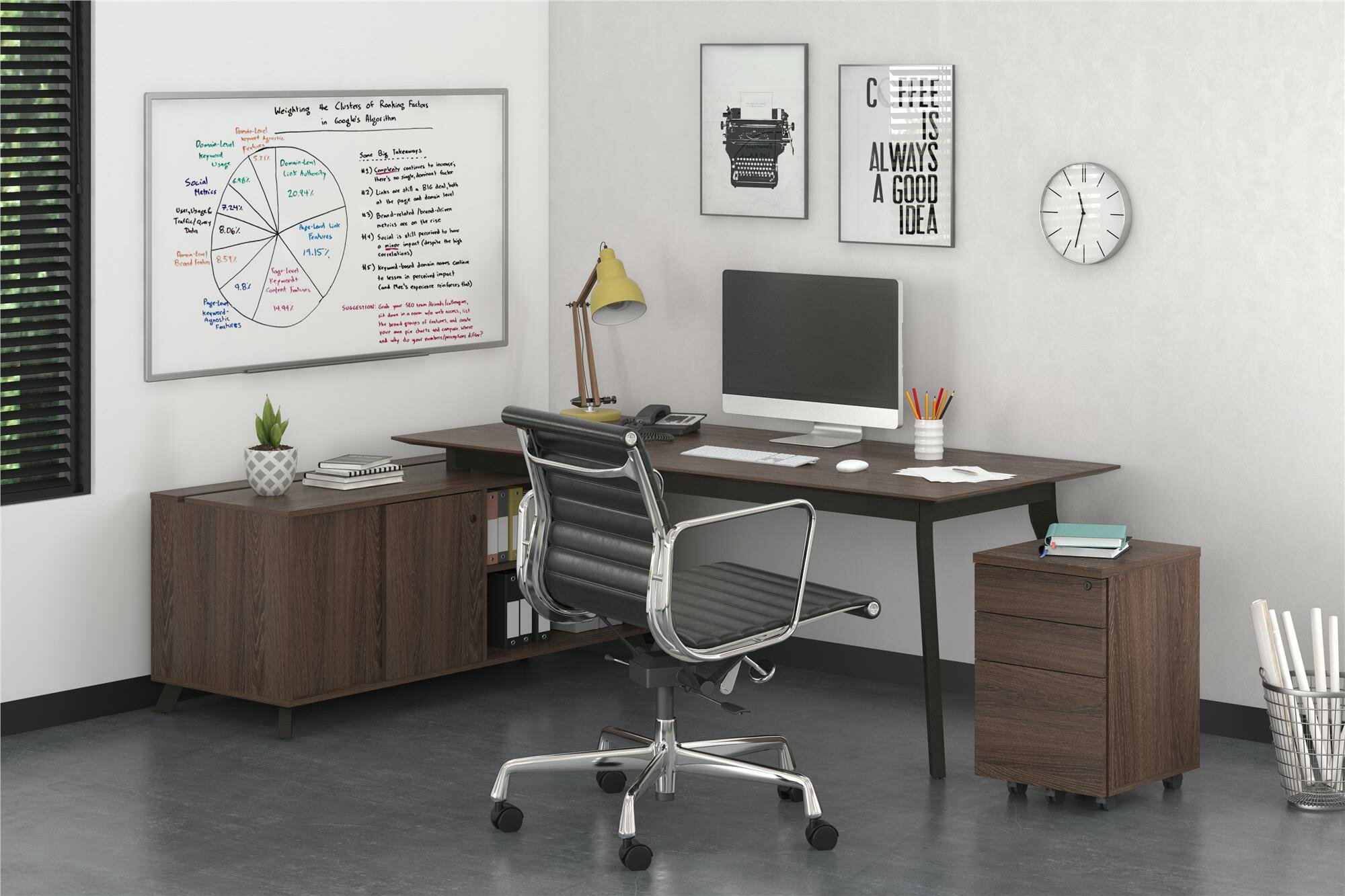 domain office furniture. Ivy Bronx Barbosa Modern Executive 2 Piece L-Shape Desk Office Suite |  Wayfair Domain Office Furniture