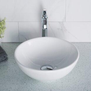 Elavo Ceramic Circular Vessel Bathroom Sink