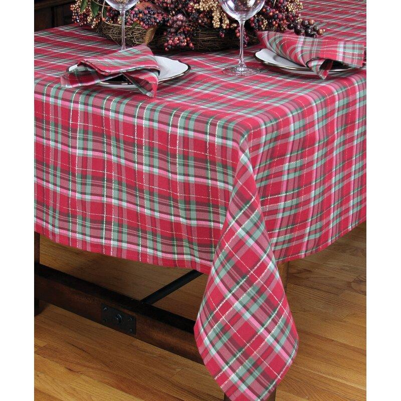Holiday Tartan Christmas Tablecloth