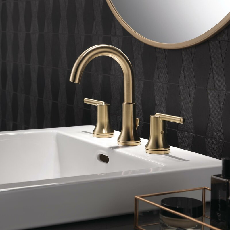 Delta Trinsic Bathroom Widespread Bathroom Faucet With Drain Assembly And Diamond Seal