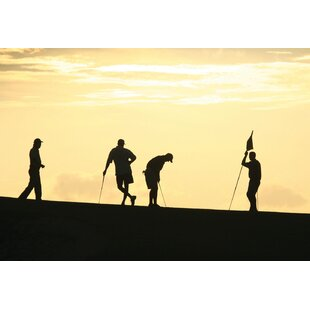 Golf Silhouettes Wall Mural