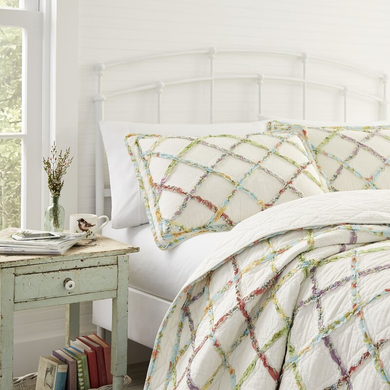 Laura Ashley Home Ruffled Garden Cotton Reversible Quilt By Laura Ashley Home Reviews