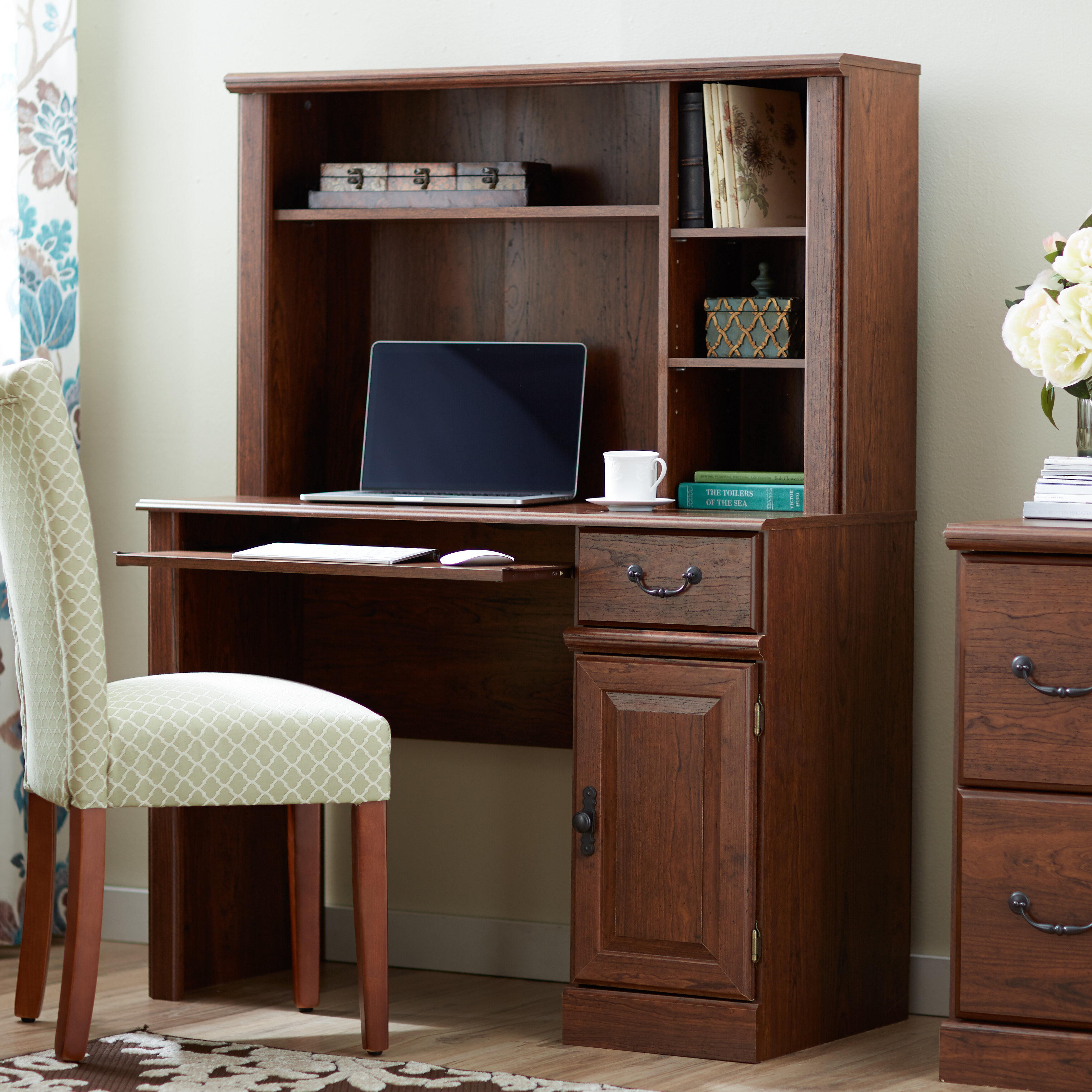 office desk filing shaped b small bestar home raw embassy with l cabinet