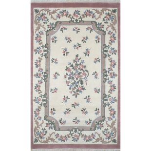 French Country Aubusson Ivory Rose Fl Area Rug