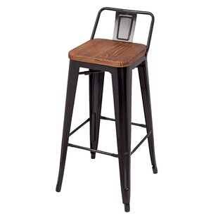 Oliverio Metal Low Back 30 Bar Stool (Set of 4)