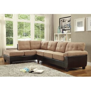 Childress Reversible Sectional  sc 1 st  Wayfair : microfiber sectional sofas - Sectionals, Sofas & Couches