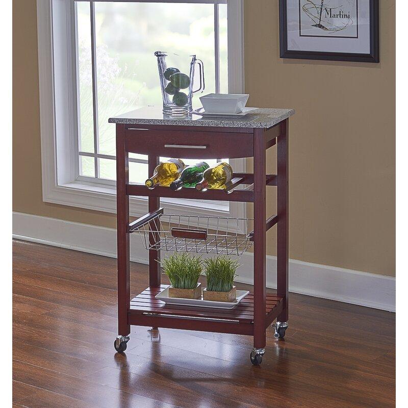Hauge Kitchen Cart With Granite Top