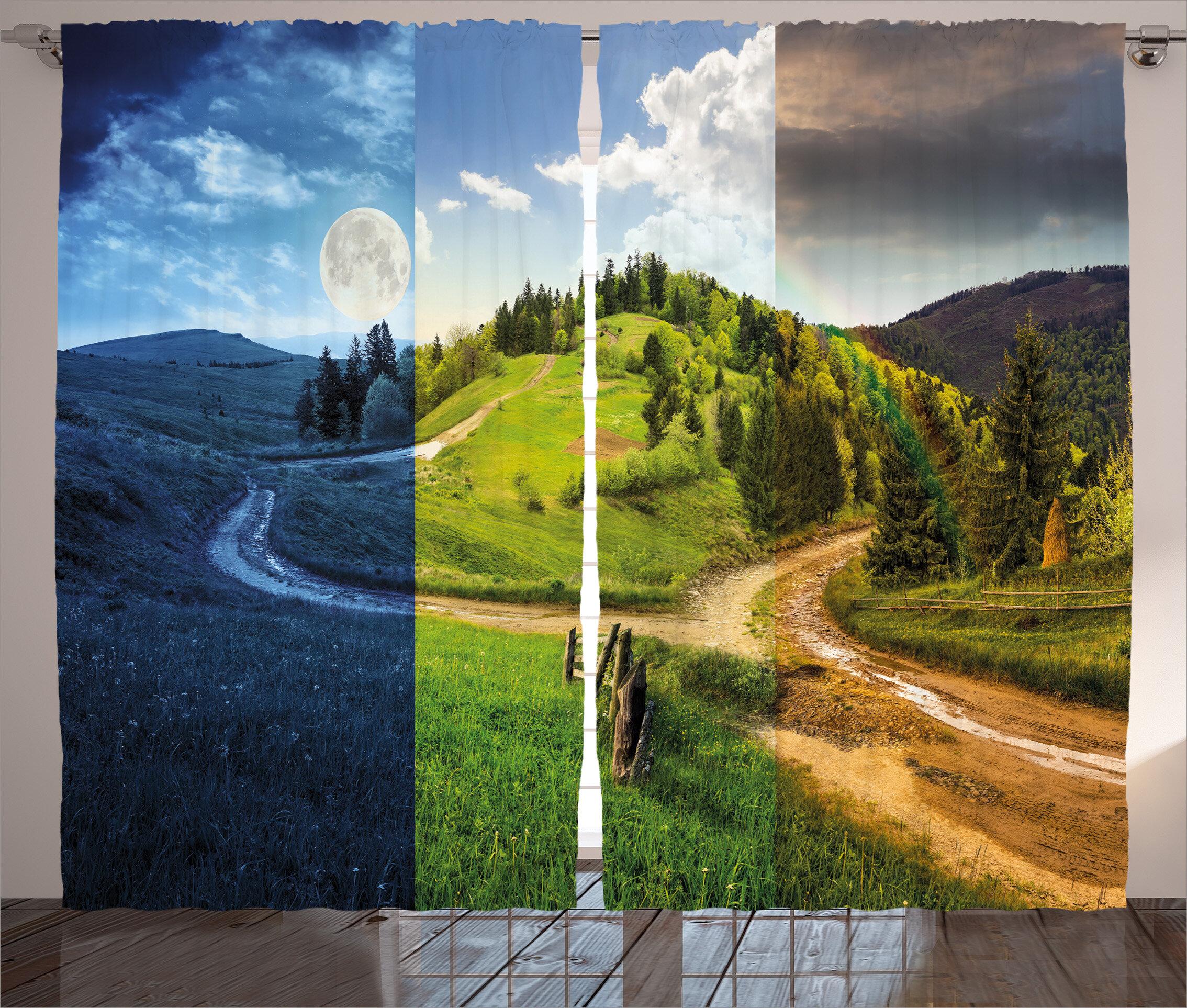 Latitude Run Clubb Collage Of Three Autumn Scene On Cross