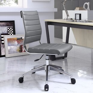office chairs brushed aluminum wayfair