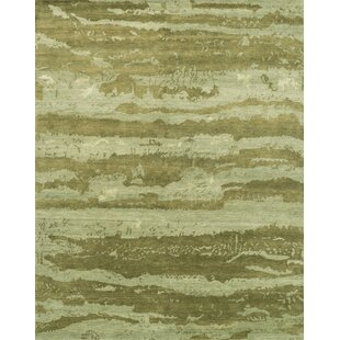 Shaunda Hand Knotted Sea Foam Green Area Rug