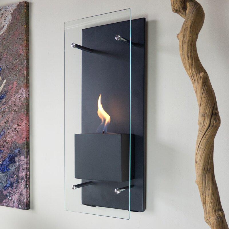 Nu-Flame Canello Wall Mount Bio-Ethanol Fireplace & Reviews | Wayfair