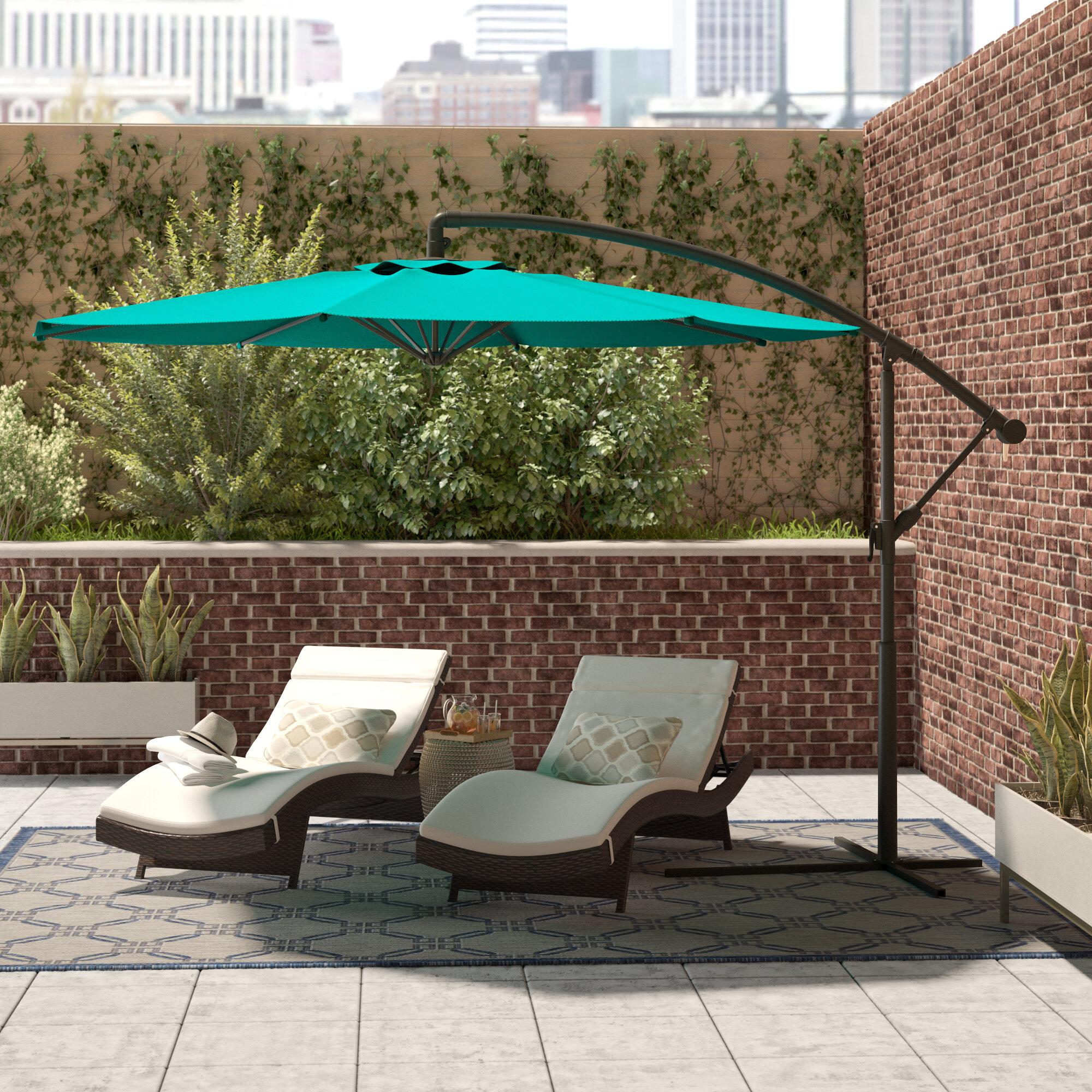 Brilliant Freda 9 6 Cantilever Umbrella Home Interior And Landscaping Mentranervesignezvosmurscom