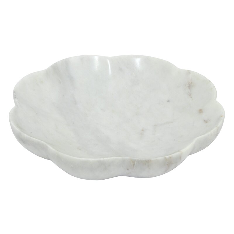 White Decorative Bowl Captivating Three Hands Comarble Decorative Bowl & Reviews  Wayfair Design Decoration