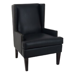 Nailhead Trim Leather Chair | Wayfair