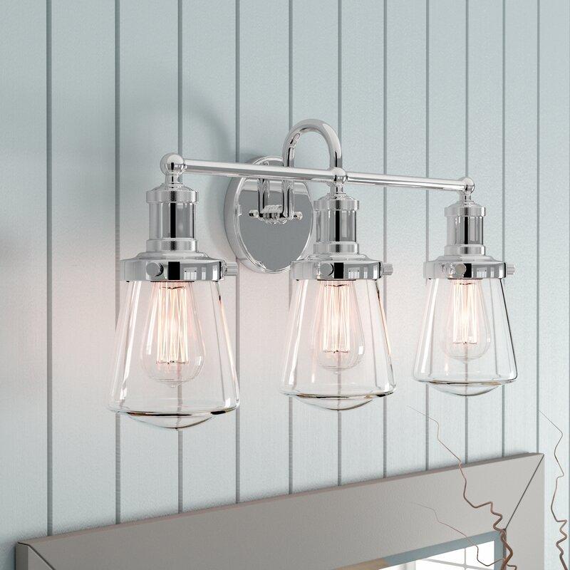 Wayfair Bathroom Vanity >> Beachcrest Home Mulvaney 3-Light Vanity Light & Reviews ...