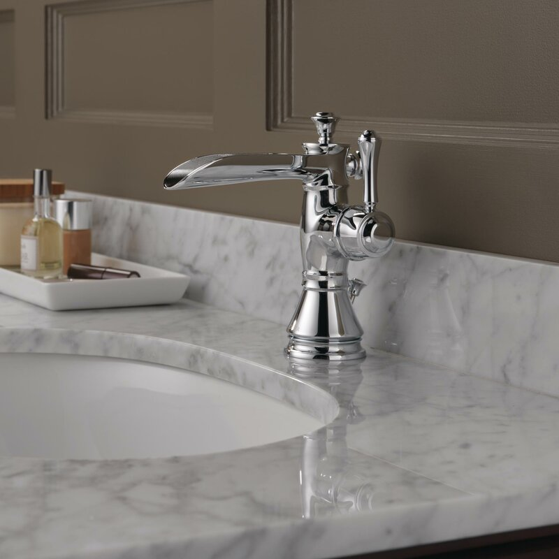 Delta Cassidy Single Handle Centerset Bathroom Faucet With