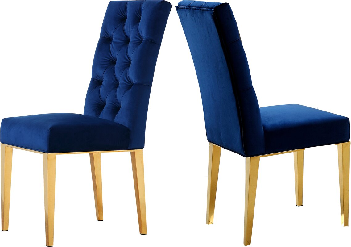 Woodland Velvet Parsons Chair
