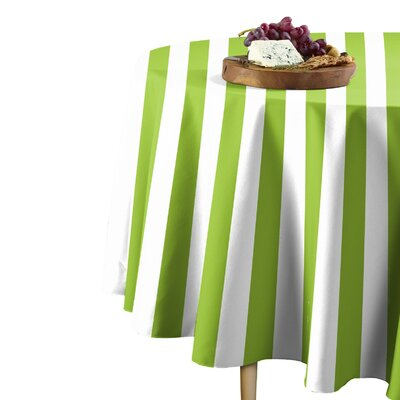 "Rosdorf Park Sam Stripe Table Cloth  Size: 114"" L x 114"" W, Color: Lime"
