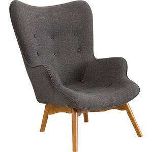 Canyon Vista Mid-Century Wingback Chair by L..