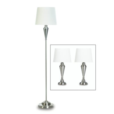 Rayford classic 3 piece table and floor lamp set
