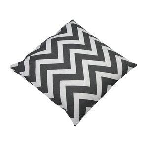 Shreffler Chevron Stripe 100% Cotton Throw Pillow