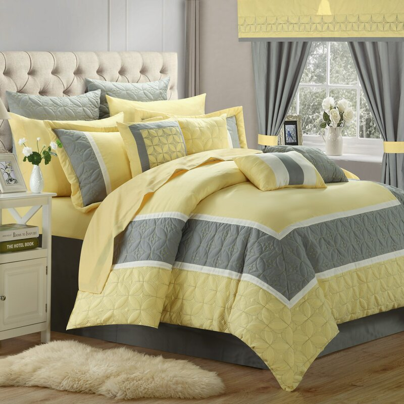 24 piece comforter set Chic Home Aida Queen 24 Piece Comforter Set & Reviews | Wayfair 24 piece comforter set
